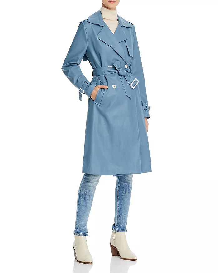 """<br><br><strong>Apparis</strong> Lucia Faux Leather Trench Coat, $, available at <a href=""""https://go.skimresources.com/?id=30283X879131&url=https%3A%2F%2Fwww.bloomingdales.com%2Fshop%2Fproduct%2Fapparis-lucia-faux-leather-trench-coat%3FID%3D3626484%26CategoryID%3D2910"""" rel=""""nofollow noopener"""" target=""""_blank"""" data-ylk=""""slk:Bloomingdale's"""" class=""""link rapid-noclick-resp"""">Bloomingdale's</a>"""