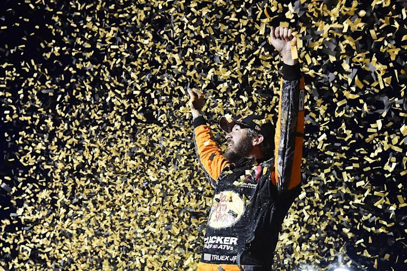 Truex wins at Vegas as playoffs begin