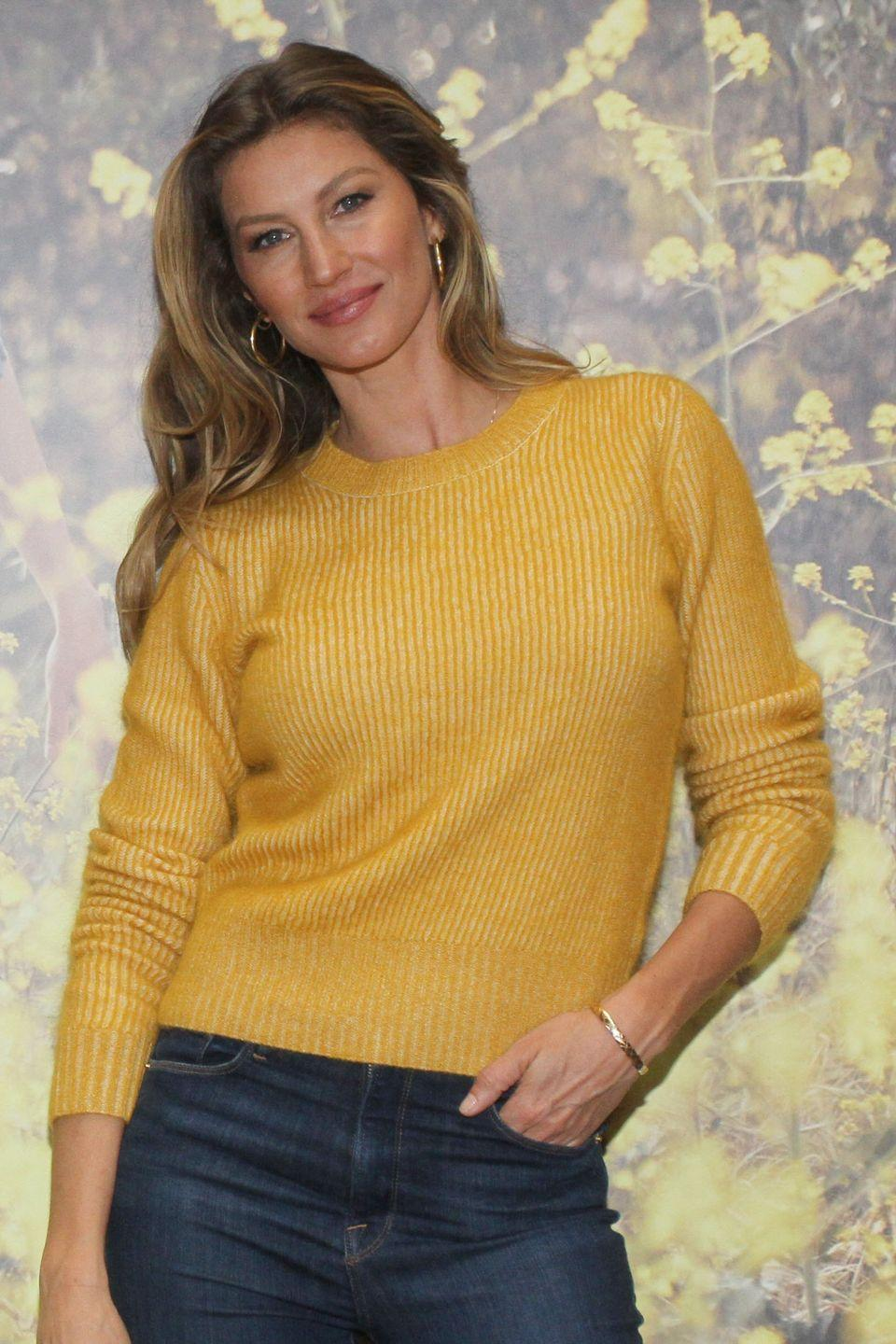 """<p>After breastfeeding two of her children, supermodel Gisele Bündchen got breast implants and immediately regretted the decision. 'I felt very vulnerable, because I can work out, I can eat healthy, but I can't change the fact that both of my kids enjoyed the left boob more than the right. All I wanted was for them to be even and for people to stop commenting on it,' <a href=""""https://people.com/style/gisele-bundchen-boob-job-breastfeeding-kids-regret/"""" rel=""""nofollow noopener"""" target=""""_blank"""" data-ylk=""""slk:Gisele told People"""" class=""""link rapid-noclick-resp"""">Gisele told People</a>. 'When I woke up, I was like, 'What have I done?' I felt like I was living in a body I didn't recognise. For the first year I wore [baggy] clothes because I felt uncomfortable.'</p>"""