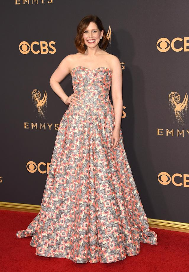 <p>Vanessa Bayer attends the 69th Primetime Emmy Awards on Sept. 17, 2017.<br> (Photo: Getty Images) </p>