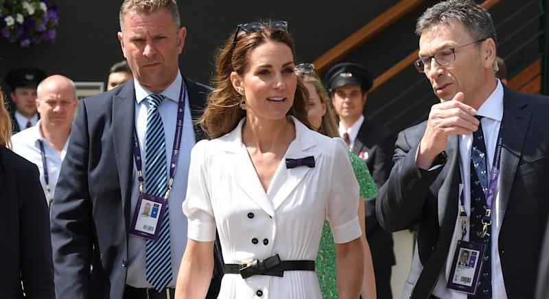 Kate Middleton's white Wimbledon dress is finally available to buy [Image: Getty]