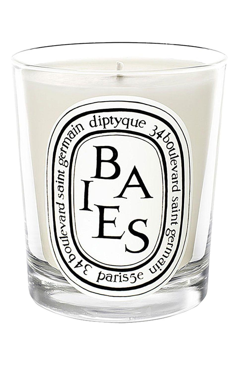 """<p><strong>Diptyque</strong></p><p>nordstrom.com</p><p><strong>$65.00</strong></p><p><a href=""""https://go.redirectingat.com?id=74968X1596630&url=https%3A%2F%2Fwww.nordstrom.com%2Fs%2Fdiptyque-baies-berries-candle%2F3227984&sref=https%3A%2F%2Fwww.townandcountrymag.com%2Fstyle%2Fbeauty-products%2Fg19408606%2Fgift-ideas-for-women%2F"""" rel=""""nofollow noopener"""" target=""""_blank"""" data-ylk=""""slk:Shop Now"""" class=""""link rapid-noclick-resp"""">Shop Now</a></p><p>You can't go wrong with a Diptyque candle, especially in its signature scent, Baies.</p>"""