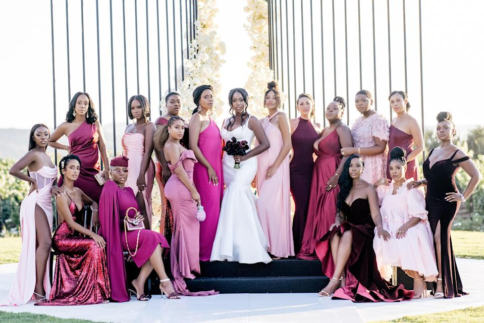 My breathtakingly gorgeous Sisters of Honor in hues of pinks, burgundy, and blush. These women are everything to me. I was honored for them to stand with me for my big day.