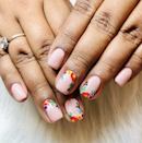 """There's no single defining trend at Las Vegas's <a href=""""https://www.instagram.com/p/BzuPhq6HdbF/"""" rel=""""nofollow noopener"""" target=""""_blank"""" data-ylk=""""slk:Nohea Nails"""" class=""""link rapid-noclick-resp"""">Nohea Nails</a>; according to owner Samantha M., """"It seems like the latest trend is the lack thereof."""" Nail magician Joy S., who creates many of the salon's designs, concurs—although she does note that hand-painted nail art is always popular at their location. That ranges from """"soft flowers to full portraits,"""" depending on the client's ask. """"It's amazing what can be done on such a small canvas,"""" she says."""