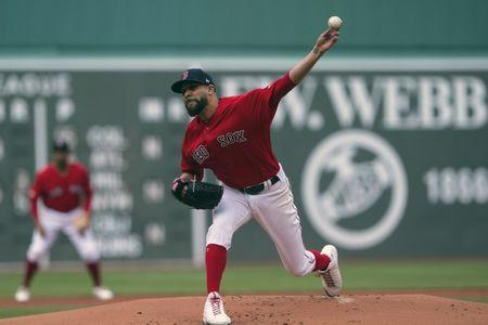 FILE PHOTO: Apr 27, 2019; Boston, MA, USA; Boston Red Sox pitcher David Price (10) delivers a pitch during the first inning against the Tampa Bay Rays at Fenway Park. Mandatory Credit: Gregory J. Fisher-USA TODAY Sports