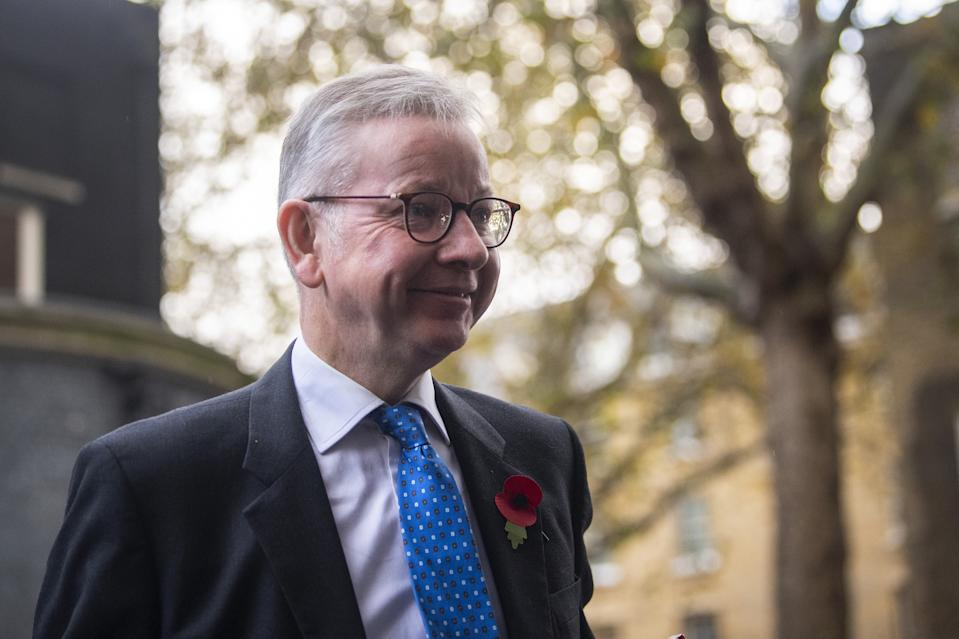 Michael Gove arrives in Downing Street, London, ahead of a Cabinet meeting at the Foreign and Commonwealth Office.