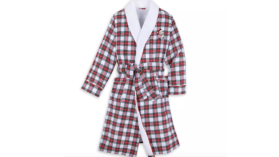Gifts for Disney lovers: Holiday plaid robe