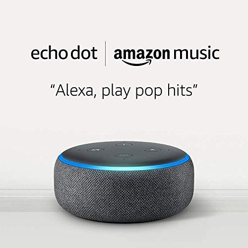 Echo Dot (3rd Gen) and 6 months of Amazon Music Unlimited FREE w/ auto-renewal - Charcoal (Amazon / Amazon)