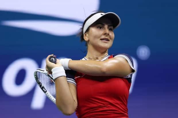 Canada's Bianca Andreescu, seen above at the U.S. Open, fell in straight sets to American Shelby Rogers in the second round of the Chicago Fall Tennis Classic on Wednesday. (Matthew Stockman/Getty Images - image credit)