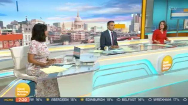 Ranvir in the GMB studio with Adil Ray and Susanna Reid (Photo: ITV)