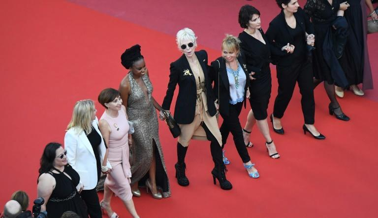 Women staged a mass protest at the 2018 Cannes festival over the lack of female representation, at the height of the 'Me Too' movement
