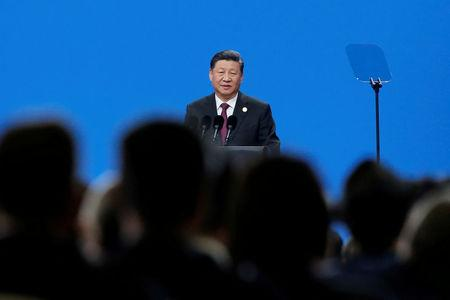 FILE PHOTO: Chinese President Xi Jinping attends the Conference on Dialogue of Asian Civilizations in Beijing