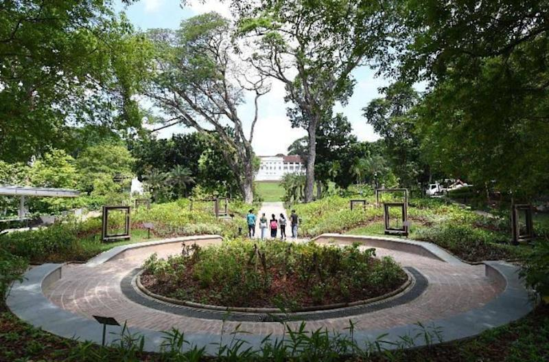 The Farquhar Garden at Fort Canning Park, named after the first Commandant of Singapore. (PHOTO: National Parks Board)