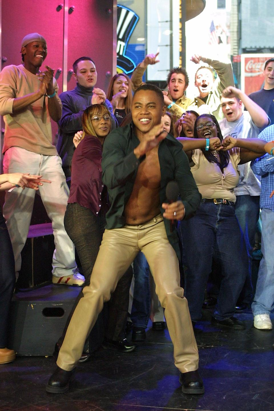 <p>Cuba Gooding Jr. busted a move on <b>TRL</b> in 2002.</p>