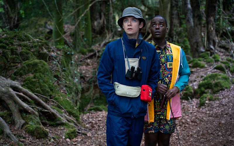 Asa Butterfield and Ncuti Gatwa in Sex Education