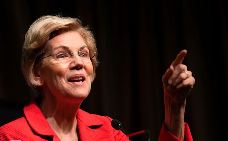 Democratic Presidential candidate Elizabeth Warren speaks during a gathering of the National Action Network April 5, 2019 in New York. (Photo: DON EMMERT/AFP/Getty Images)