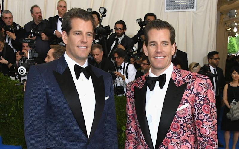 Cameron and Tyler Winklevoss at the Met Gala in 2017 - Getty Images