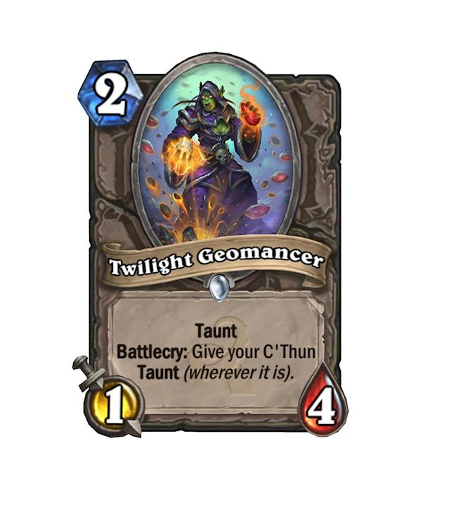<p>We hear a 20/20 Taunt C'Thun is pretty good. And a nice little stopgap to get himself there doesn't sound too bad, either. </p>