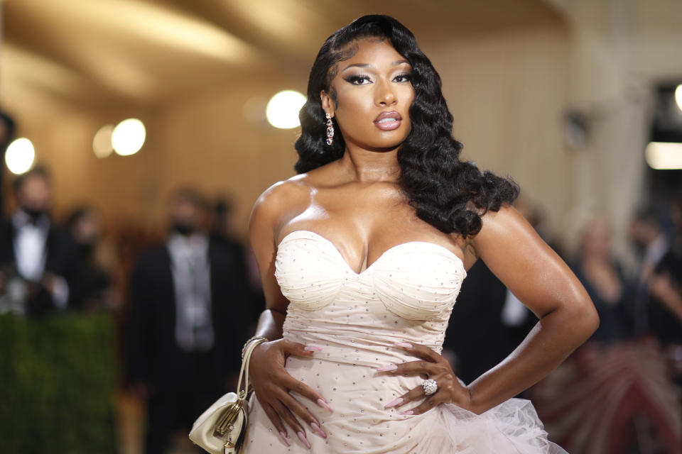 Metropolitan Museum of Art Costume Institute Gala - Met Gala - In America: A Lexicon of Fashion - Arrivals - New York City, U.S. - September 13, 2021. Megan Thee Stallion in Coach. REUTERS/Mario Anzuoni