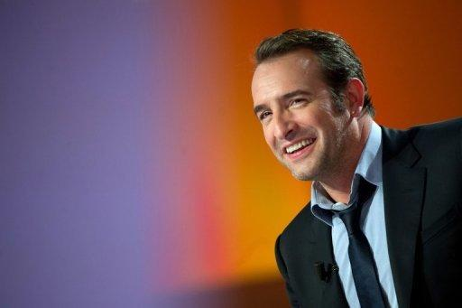 French actor Jean Dujardin takes part in a TV broadcast in February 2012
