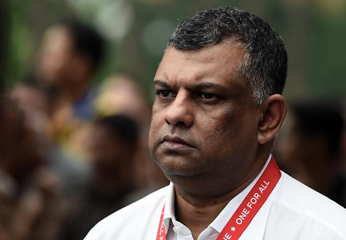 """Tony Fernandes had tweeted that there will be """"no more cheque book"""" at QPR (AFP Photo/Manan Vatsyayana)"""