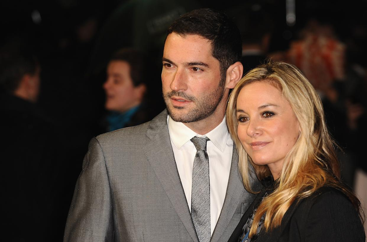 LONDON, ENGLAND - OCTOBER 21:  Tom Ellis and Tamzin Outhwaite attend the premiere of 'Great Expectations' which closes the 56th BFI London Film Festival at Odeon Leicester Square on October 21, 2012 in London, England.  (Photo by Ferdaus Shamim/WireImage)