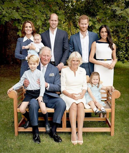 Prince Louis Cuddles Prince Charles in Birthday Portraits