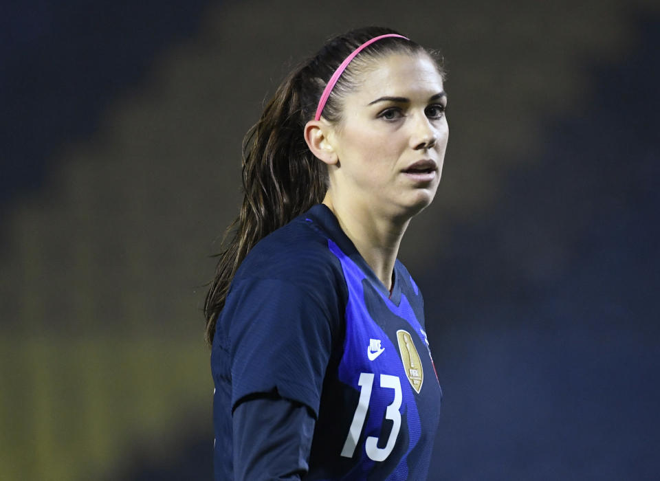 USWNT star Alex Morgan tweeted she and her family tested positive for COVID-19 over the holidays. (Piroschka Van De Wouw/Reuters)