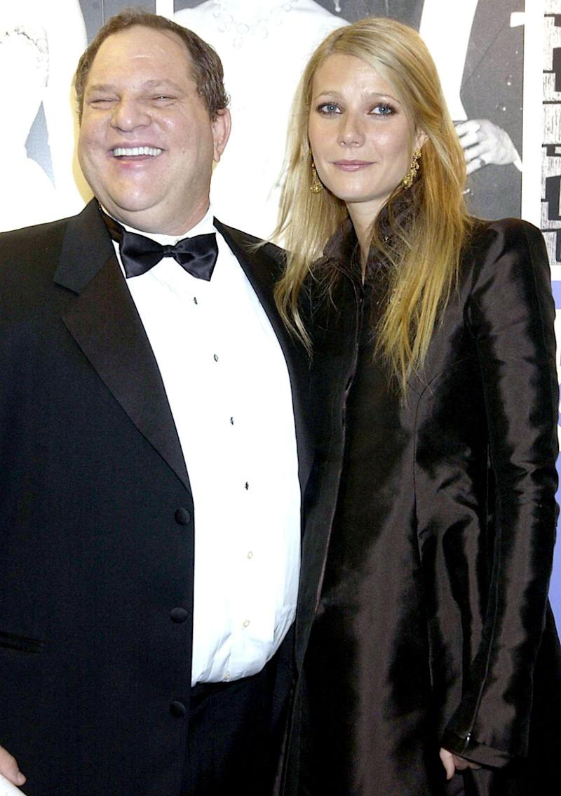 Gwyneth Paltrow seen with Harvey Weinstein, The 50th Anniversary Gala Of The National Film Theatre, At The National Film Theatre, in London, 2002. Source: Getty