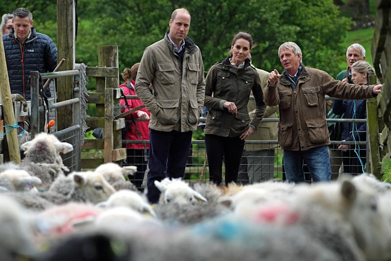 William and Kate got hands-on in the rural district. Photo: Getty Images