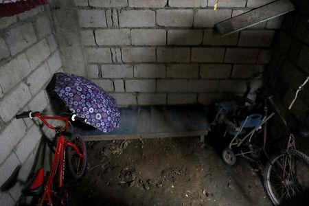 A room where Bernabe Sabangan and a friend were killed by policemen at their house in Barangay Bagong Silangan in Quezon City, Metro Manila, Philippines November 28, 2017. REUTERS/Erik De Castro