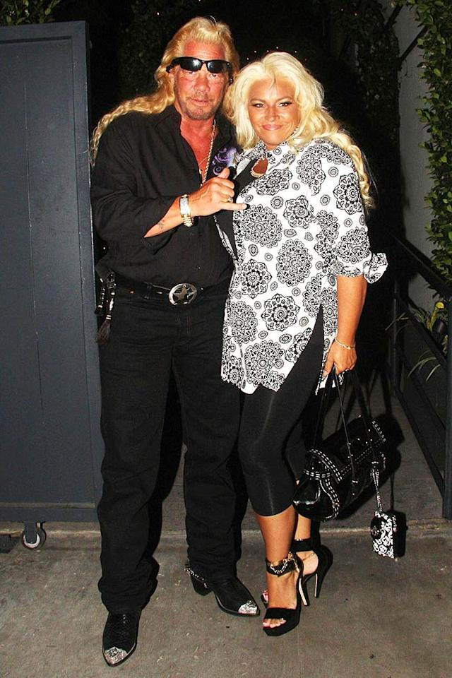 "We'll give Dwayne Chapman (aka Dog the Bounty Hunter) and his wife Beth a pass on their threads, but those over-processed manes are an absolute mess. Greg Tidwell/<a href=""http://www.pacificcoastnews.com/"" target=""new"">PacificCoastNews.com</a> - August 4, 2008"