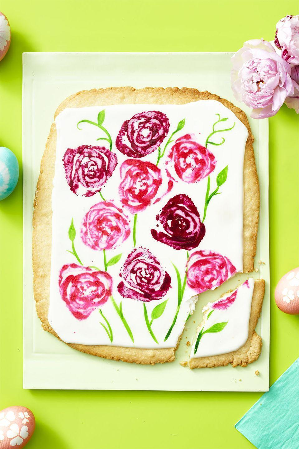 "<p>The cross-section at the base of a celery heart looks like a rose. Dip it in colored icing and ""stamp"" onto giant sugar cookies!</p><p><em><strong><a href=""https://www.womansday.com/food-recipes/a35681467/giant-sugar-cookie-bouquet-recipe/"" rel=""nofollow noopener"" target=""_blank"" data-ylk=""slk:Get the Giant Sugar Cookie Bouquet recipe."" class=""link rapid-noclick-resp"">Get the Giant Sugar Cookie Bouquet recipe.</a></strong></em></p>"