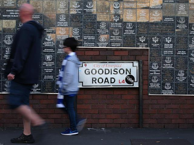 A general view outside Goodison Park: Getty