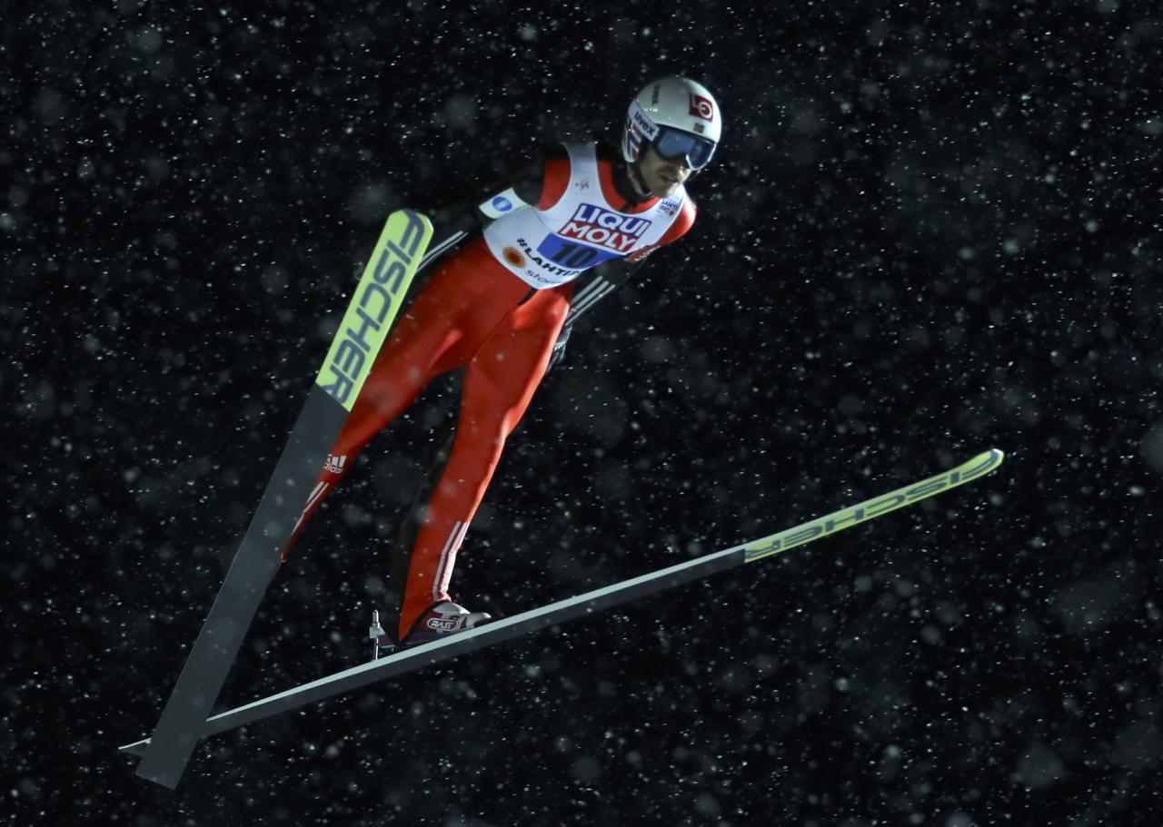 FIS Nordic Ski World Championships - Mixed Team Ski Jumping Normal Hill - Lahti, Finland - 26/2/17 - Andreas Stjernen of Norway in action.  REUTERS/Kai Pfaffenbach