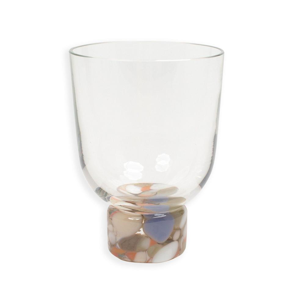 """<p><strong>Natural Confetti Glass Tumbler</strong></p><p>misettetable.com</p><p><strong>$64.00</strong></p><p><a href=""""https://www.misettetable.com/collections/glassware/products/hand-blown-confetti-glass-tumblers"""" rel=""""nofollow noopener"""" target=""""_blank"""" data-ylk=""""slk:Shop Now"""" class=""""link rapid-noclick-resp"""">Shop Now</a></p><p>He also suggests stocking up on exciting glasses that speak to you, regardless of the number available. The bar manager is always on the lookout for an exciting new addition to his glassware collection, even if there are only two in stock. Each type of glass offers its own unique drinking experience. </p>"""