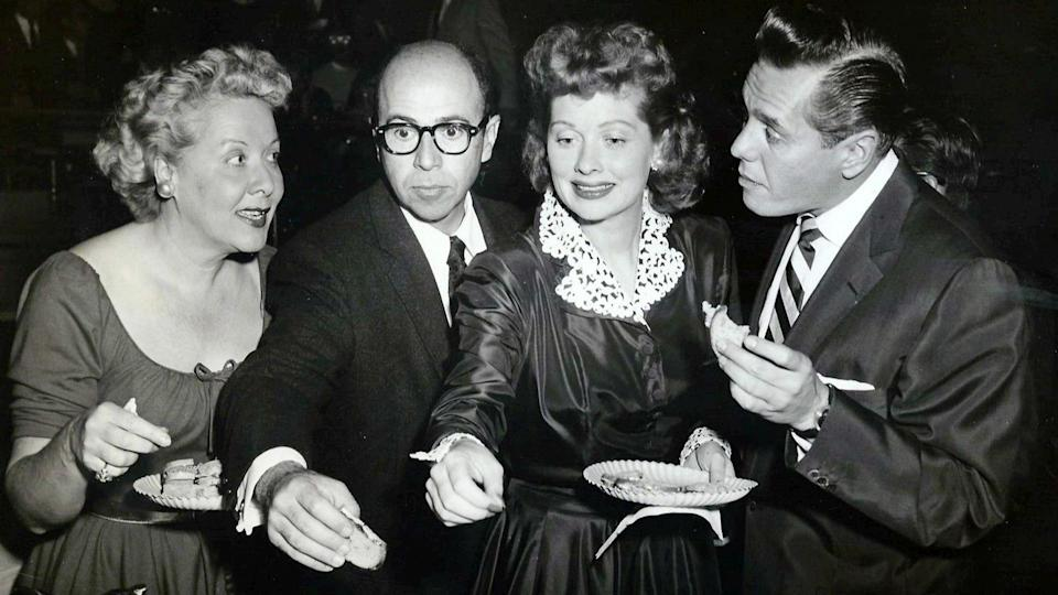Photo from the 1955 press party for the television show I Love Lucy.