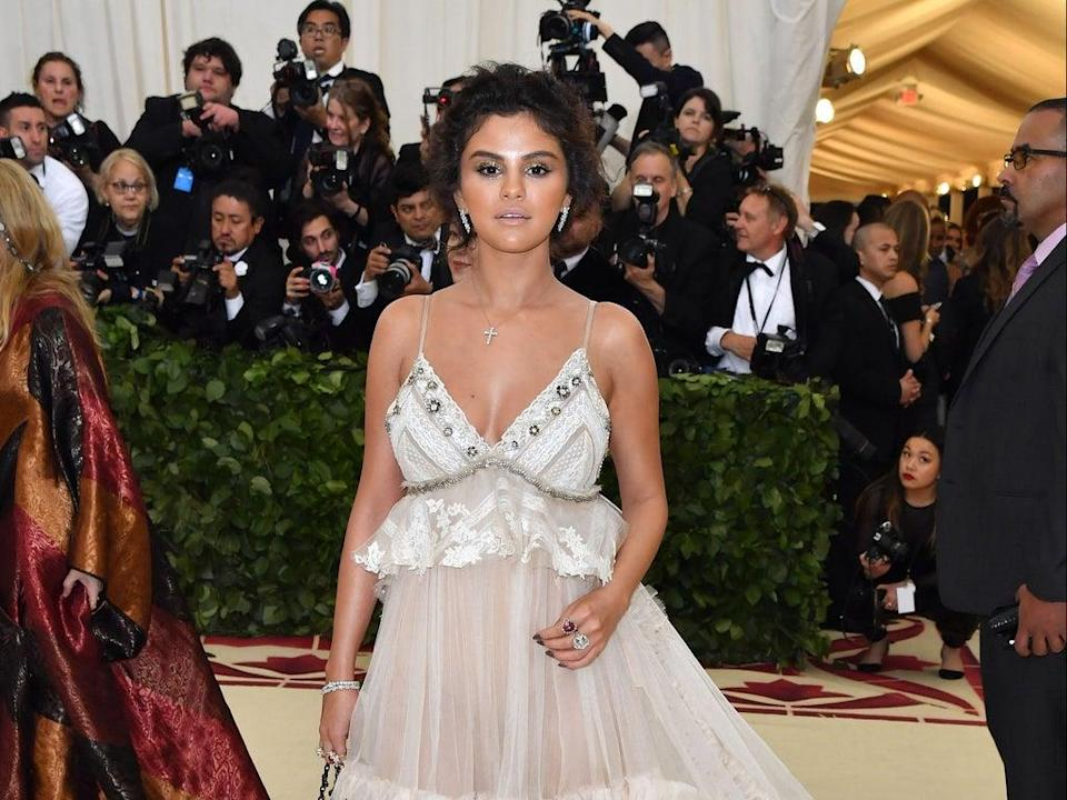 Selena Gomez reflects on tanning mishap at 2018 Met Gala (AFP via Getty Images)
