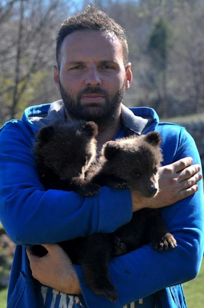 Miljan Milickovic is caring for the cubs until they can move to a specialist centre