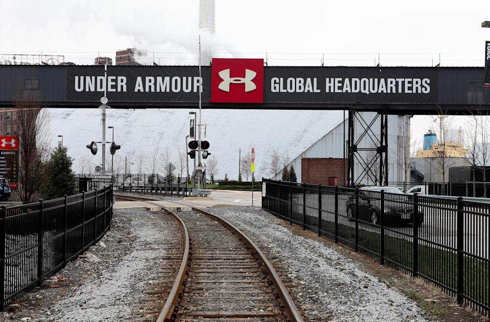 BALTIMORE - APRIL 09:  Under Armour Global Headquarters signage on April 9, 2015 in Baltimore, Maryland.  (Photo By Raymond Boyd/Getty Images)