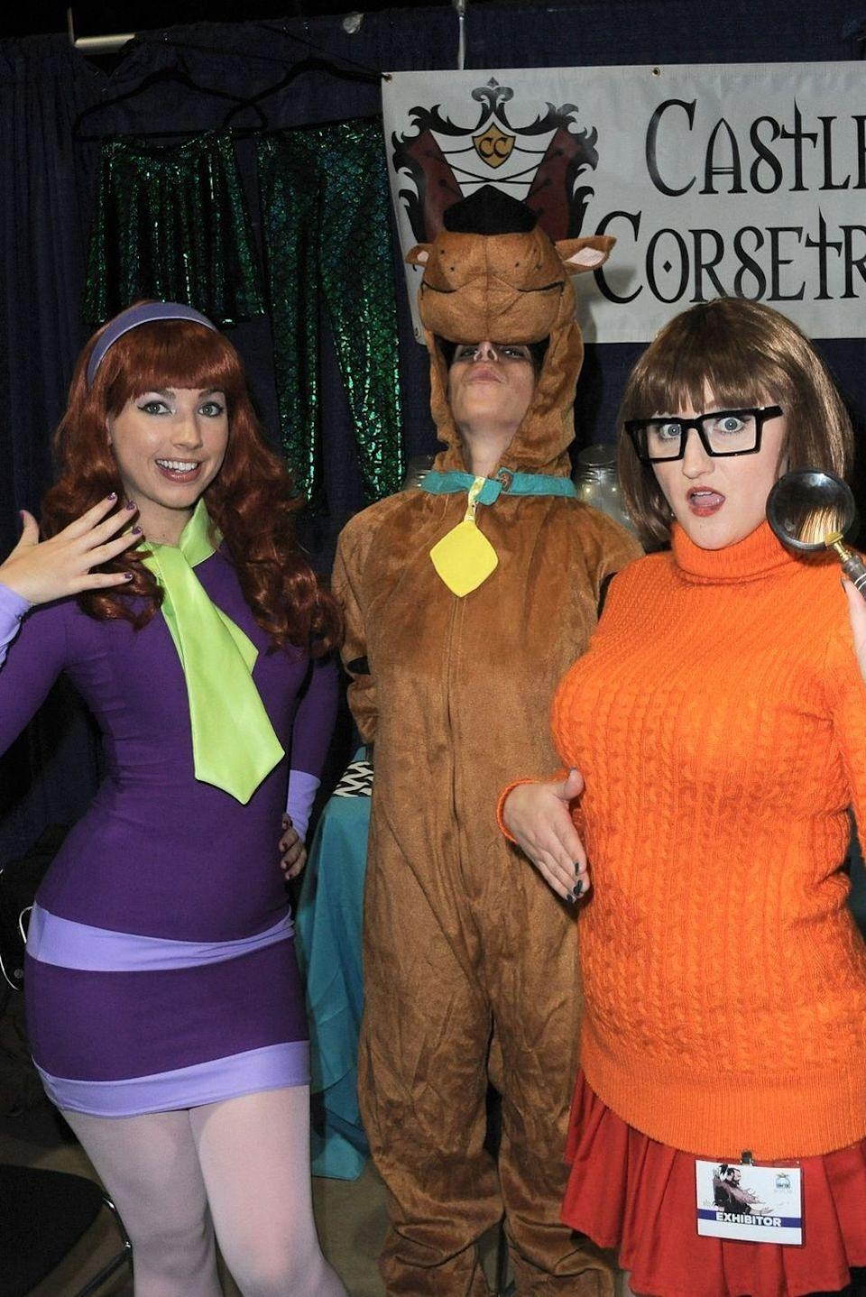 """<p>Even if you don't feel like solving any mysteries, you'll totally look the part when you dress up as Daphne, Scooby, Velma, or any other members of the <em>Scooby Doo</em> crew.</p><p><a class=""""link rapid-noclick-resp"""" href=""""https://www.amazon.com/Halloween-Bodycon-Sleeve-Costume-Cosplay/dp/B07TZM4BDN?tag=syn-yahoo-20&ascsubtag=%5Bartid%7C10070.g.23122163%5Bsrc%7Cyahoo-us"""" rel=""""nofollow noopener"""" target=""""_blank"""" data-ylk=""""slk:SHOP PURPLE DRESS"""">SHOP PURPLE DRESS</a></p>"""