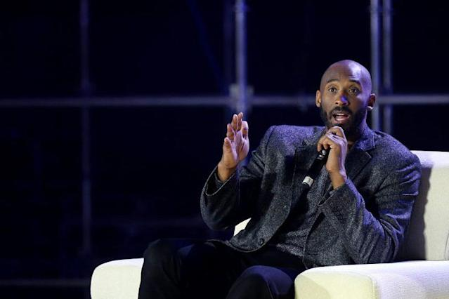 "<a class=""link rapid-noclick-resp"" href=""/nba/teams/lal/"" data-ylk=""slk:Los Angeles Lakers"">Los Angeles Lakers</a> legend Kobe Bryant spoke in favor of an MMA fighters union during the UFC Athlete Retreat. (Getty)"