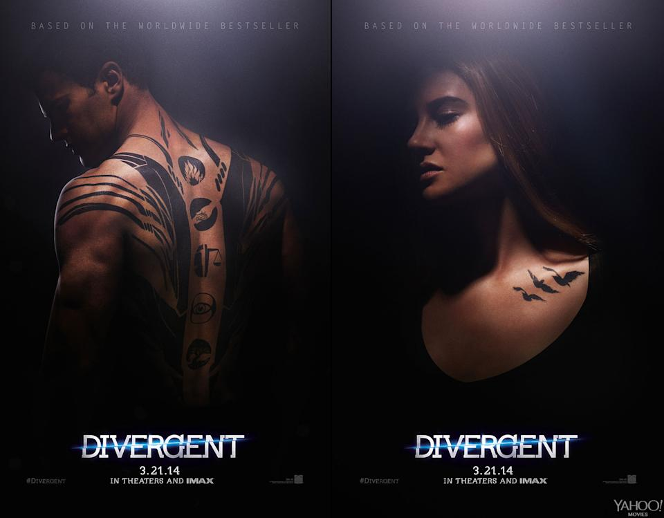 """Theo James and Shailene Woodley in Summit's """"Divergent"""""""