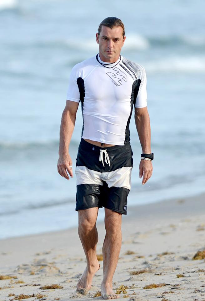 MIAMI, FL - AUGUST 07: Gavin Rossdale is sighted on August 7, 2012 in Miami, Florida. (Photo by Uri Schanker/FilmMagic)