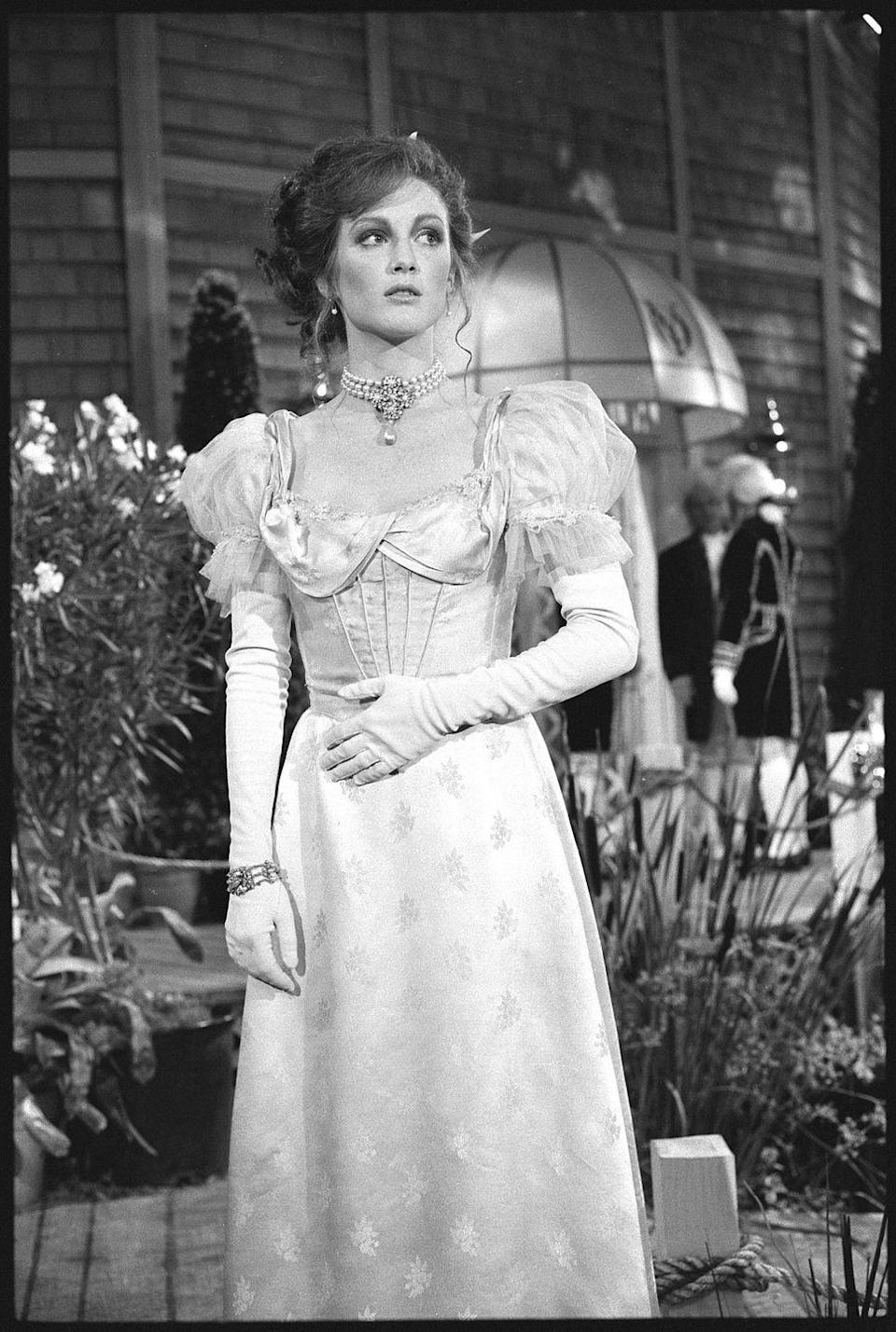 <p>The Oscar winner stole the screen in <em>As the World Turns </em>in 1985. Check out that costume! </p>