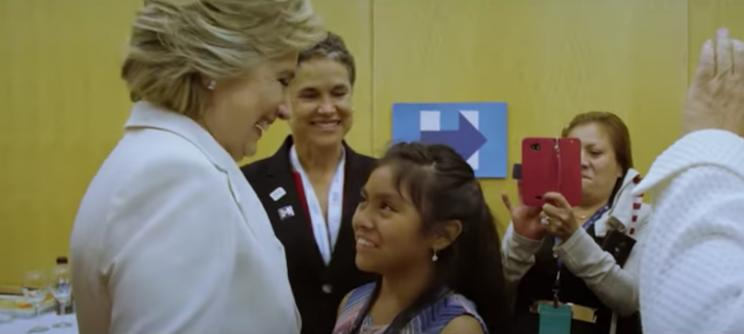 A scene from the new Hillary Clinton ad. (Screenshot: YouTube)