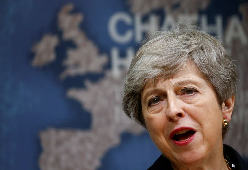 Former UK PM May says government putting UK integrity at risk, could damage Northern Ireland peace
