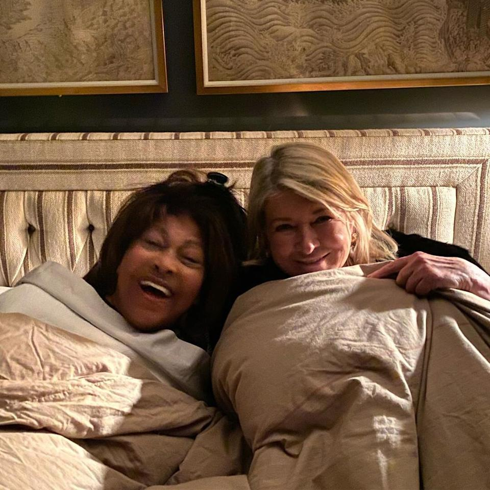 """Name a more <a href=""""https://www.instagram.com/p/B4bEK1qH6c3/"""">iconic duo</a>! The legendary singer and the lifestyle maven had """"a cozy chat in bed"""" while """"waiting for dinner"""" over the weekend."""