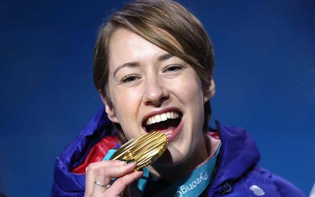 Lizzy Yarnold celebrates gold with Netflix and knitting - and doesn't rule out going for glory at third Winter Olympics