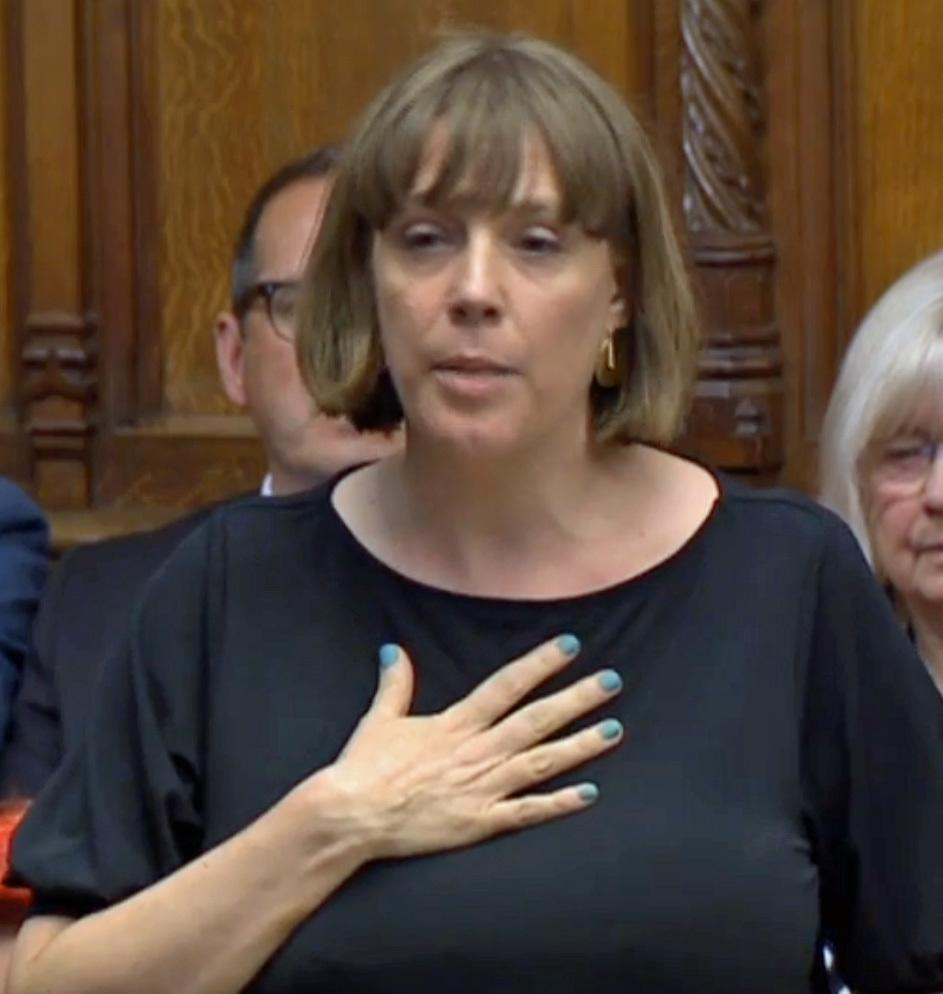 Labour MP Jess Phillips (Birmingham Yardley) speaking in the House of Commons in London when she raised concerns about Prime Minister Boris Johnson's language in the Commons during Wednesday's heated exchanges.